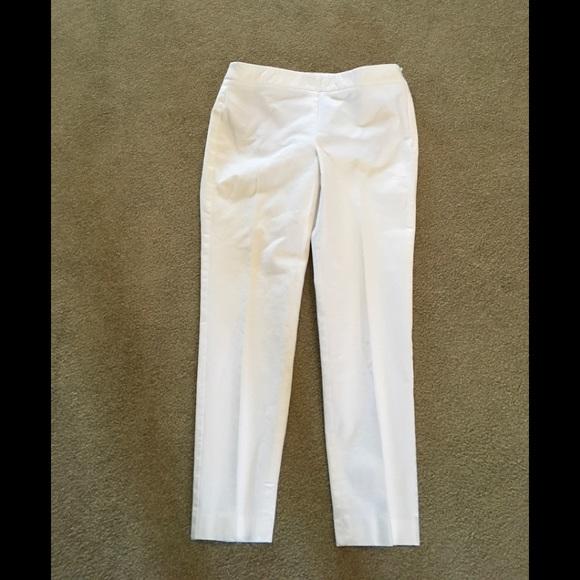 8f84ad5242e038 Talbots Pants | Sz 2p White Side Zipper Slacks | Poshmark
